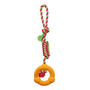 Trixie Denta Fun gumigyűrű kötélen 41cm
