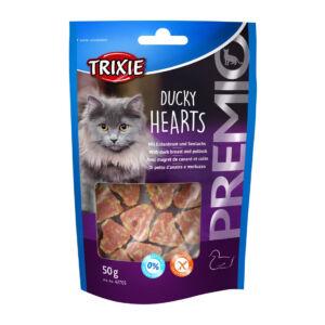 Trixie Jutalomfalat macska kacsa szívek 50g