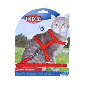 Trixie Hám+póráz macska fém csattal fényvisszaverő