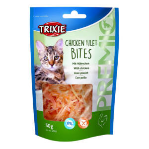 Trixie Jutalomfalat macska csirke csíkok 50g