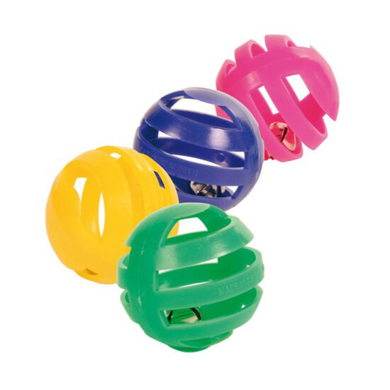 Trixie Műanyag labda csörgővel 4db
